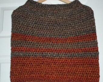 Cozy Capelet - Crochet Capelet - Made of Lion Brand Home Spun Acrylic Yarn