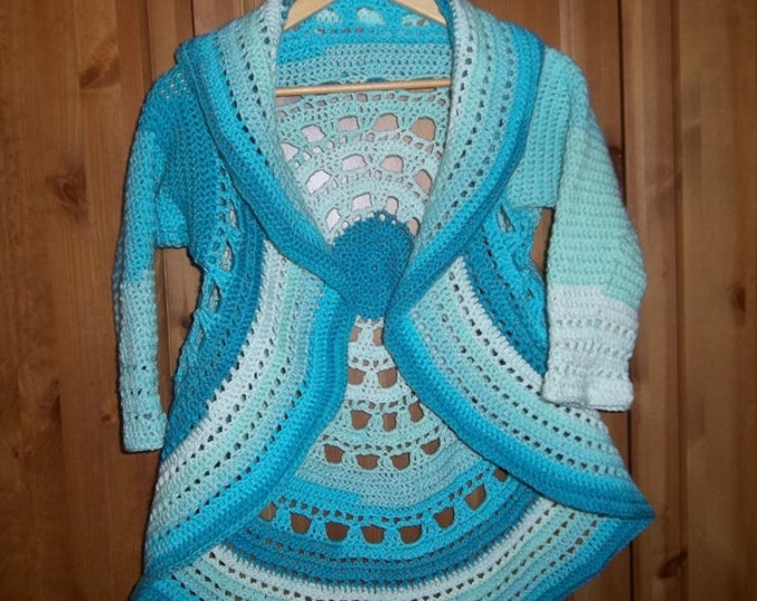 Circle Jacket Size Small/Medium - Crochet - Color Pastell Farie / Farie Cake