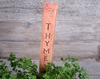 Single Ceramic Garden Markers in Buff Stoneware with Rust Stain. Ecofriendly, Durable Garden Labels. Plant Markers.  Made to Order