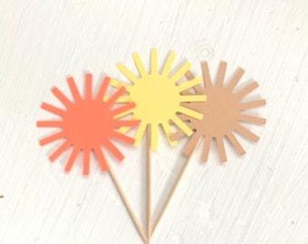 Sunshine Cupcake Toppers, Sunshine Birthday, Baby Shower