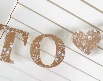 Bride To Be Garland, Rustic, Bridal Shower Decor