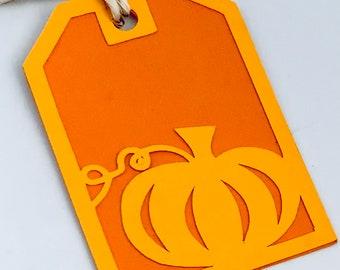 Pumpkin Tags, Favor, Gift Tags