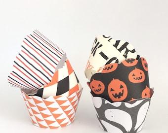 Mini Halloween Cupcake Wrappers