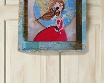 Child of the Wild Blue Yonder Original Art Painting