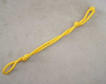 NOS twisted string YELLOW front chin strap for band/military/captains/army hats