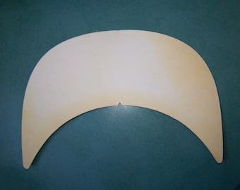 "WHOLESALE - 25 pcs NOS deadstock 7 1/2"" wide cap hat brim board - cardboard insert"