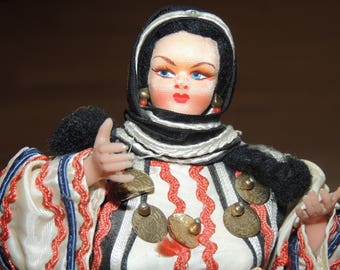 Vintage Greek 10 inch Stockinette Doll