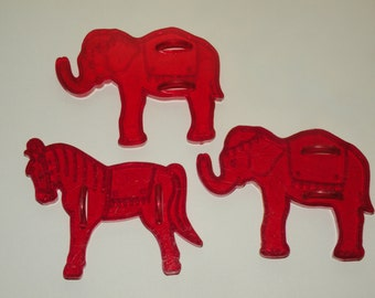 Circus Pony and two Elephants  Cookie Cutters