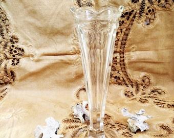 "Antique Victorian Vase. Antique ""Press Cut"" vase . 1800's 1900's."