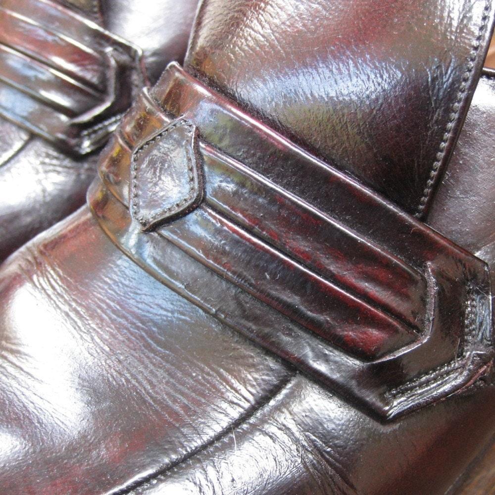 1970s Vintage OxBlood Leather Handmade Shoes Shoes Handmade f2c8eb