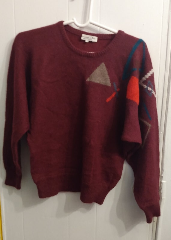Christian Dior Geometric Sweater Purple M