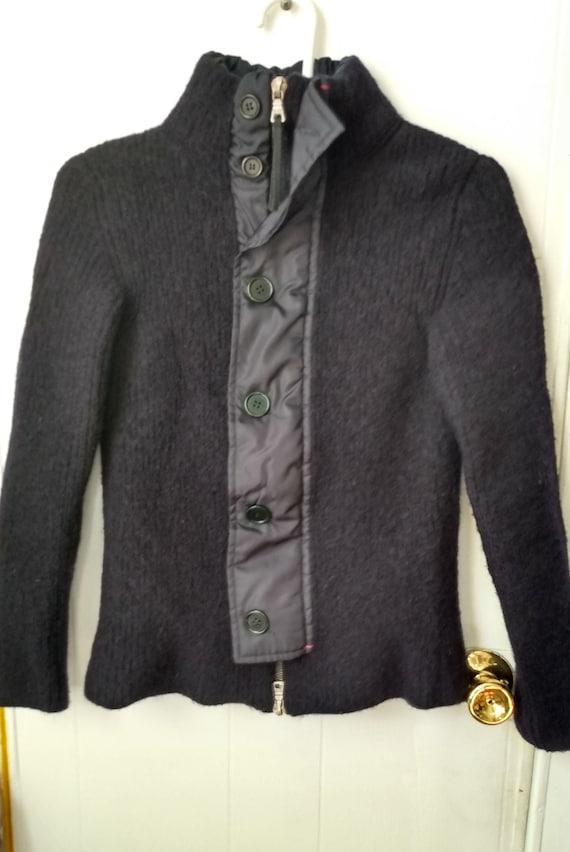 90s Prada Wool Jacket Navy - image 1