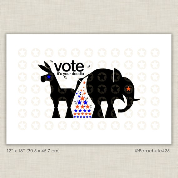 Funny Political Art Vote Political Satire Republican Etsy