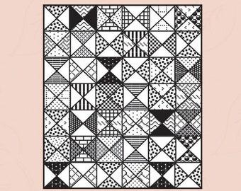 Piece of Cake Beginner Modern Quilt Pattern - by Pieced Tree Patterns