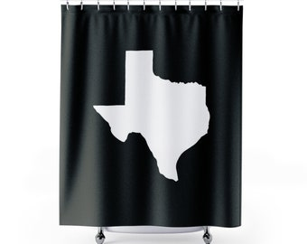 Black And White Texas Shower Curtain