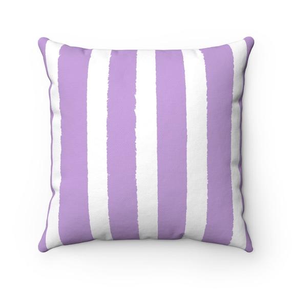 OUTDOOR Throw Pillow . Lavender Outdoor Pillow . Lavender Stripe Patio Cushion