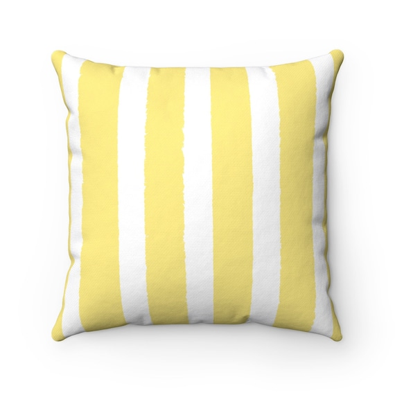 Butter Yellow Striped Throw Pillow . Yellow Pillow . Yellow Lumbar Pillow . Yellow Striped Pillow . Yellow Cushion 14 16 18 20 26 inch