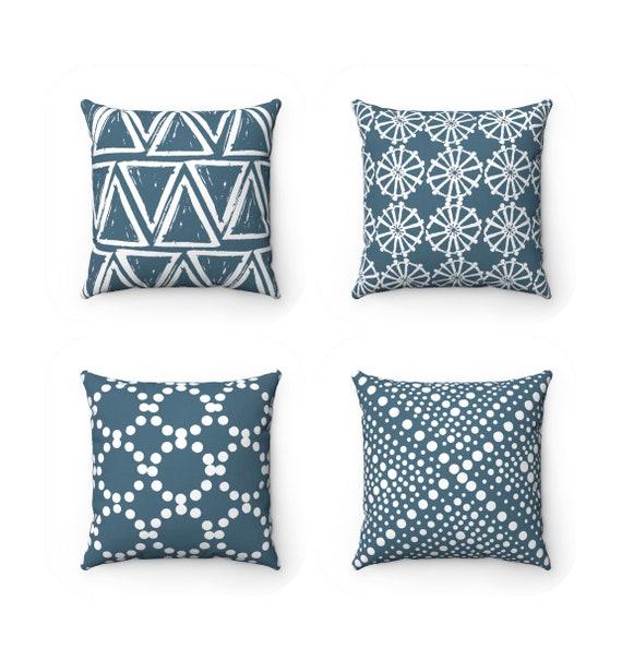 OUTDOOR Throw Pillow . Teal Outdoor Pillow . Teal pillow . Teal Patio Cushion . Turquoise Throw Pillow 16 18 20 inch . Teal Lumbar Pillow