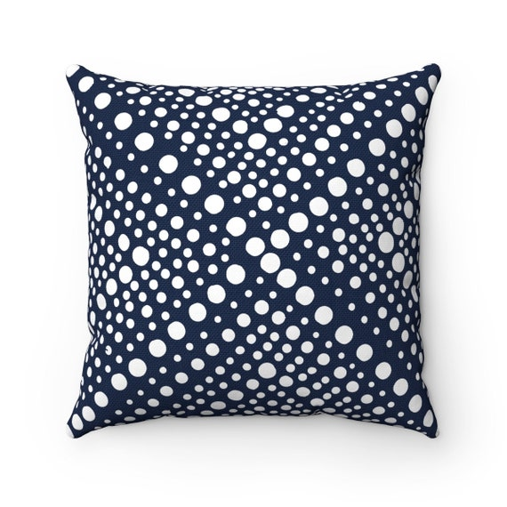 Outdoor Throw Pillow Navy Blue Outdoor Pillow Navy And White Etsy