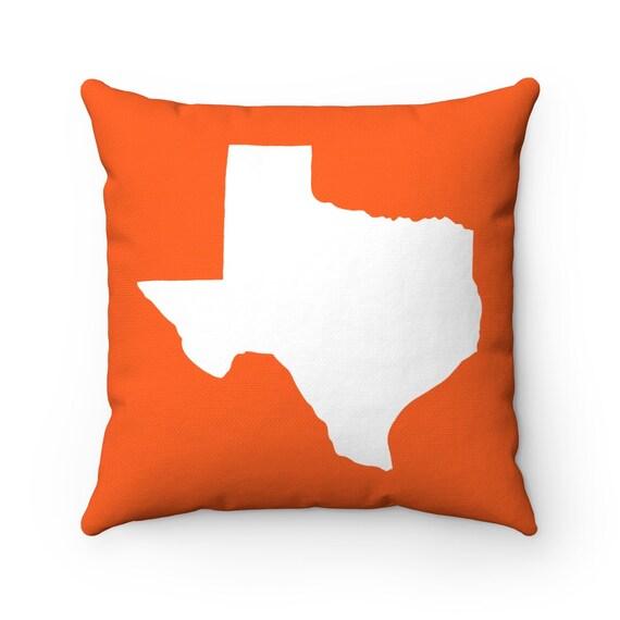 Orange Texas Throw Pillow . Orange Texas Pillow . Modern Orange Pillow . Texas Cushion . Texas State Pillow . Texas Gift 14 16 18 20 26 inch