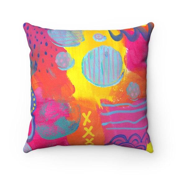 OUTDOOR Throw Pillow . Abstract Outdoor Throw Pillow . Modern Outdoor Pillow . Abstract Yellow Patio Cushion . Lumbar Pillow . Patio Cushion