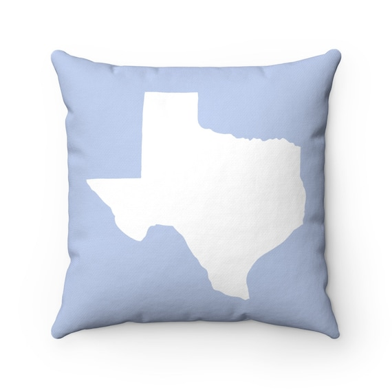 Periwinkle blue Texas Throw Pillow . Blue Texas Pillow . Modern Pillow . Texas Cushion . Texas State Pillow . Texas Gift 14 16 18 20 26 inch
