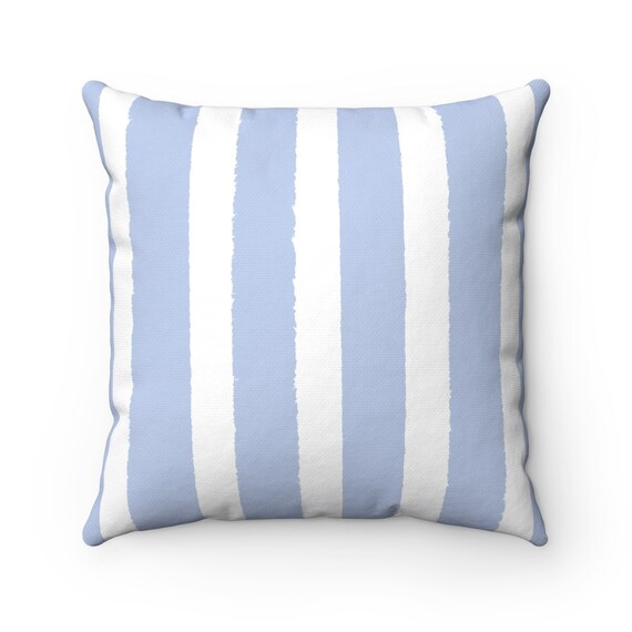 Periwinkle Striped Throw Pillow . Pale Blue Pillow . Periwinkle Striped Pillow