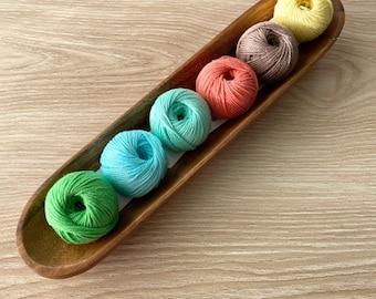 6 Cotton Yarn Set - Pastel - Yarn and Colors Must Have Minis Cotton Yarn - Stocking Stuffer