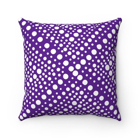 OUTDOOR Throw Pillow . Violet Outdoor Pillow . Purple Modern Geometric X Dot . 16 18 20 inch . Purple Lumbar Pillow . Pillow Outside Pillow