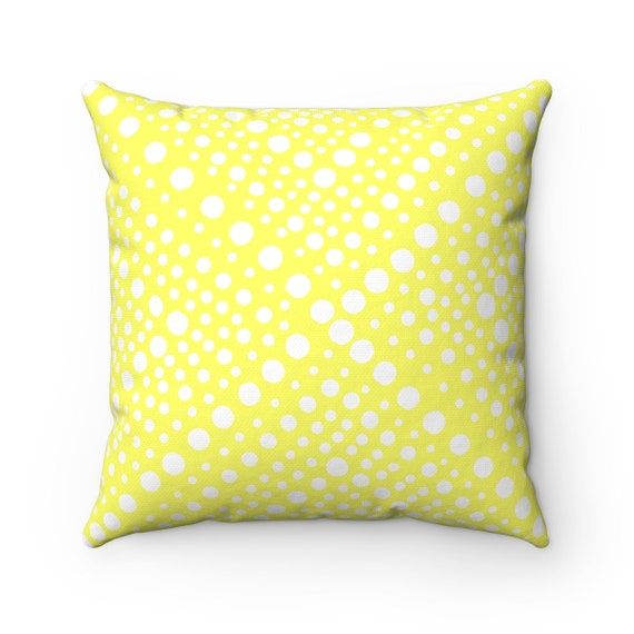 OUTDOOR Throw Pillow . Lemon Yellow Patio Cushion . Modern Geometric Outside Pillow  Outdoor Pillow 16 18 20 inch Lemon Yellow Lumbar Pillow