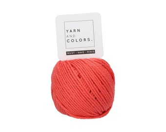 041 Coral - Yarn and Colors Must Have Mini - Coral Cotton Yarn - Fine (2)