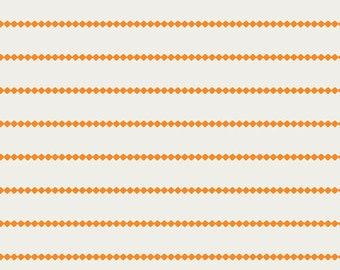Seaside Stripes Tangerine - Orange Stripe Fabric - Art Gallery Fabrics - Summer Side - SMS-73207 - Fabric by the yard