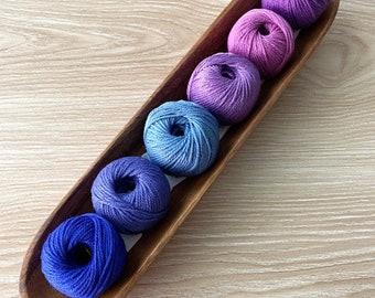 6 Cotton Yarn Set - Purple - Yarn and Colors Must Have Minis Cotton Yarn - Stocking Stuffer