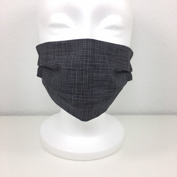 Gray Child Face Mask - Adjustable Fabric Mask