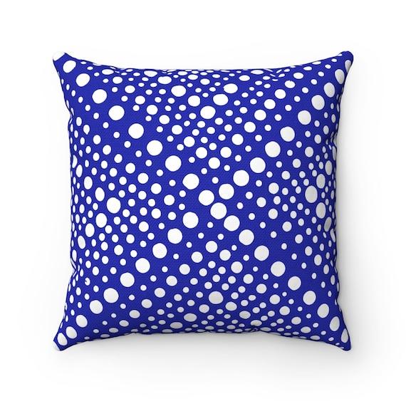 OUTDOOR Throw Pillow . Azure Blue Outdoor Pillow . Blue Patio Cushion . X Dot