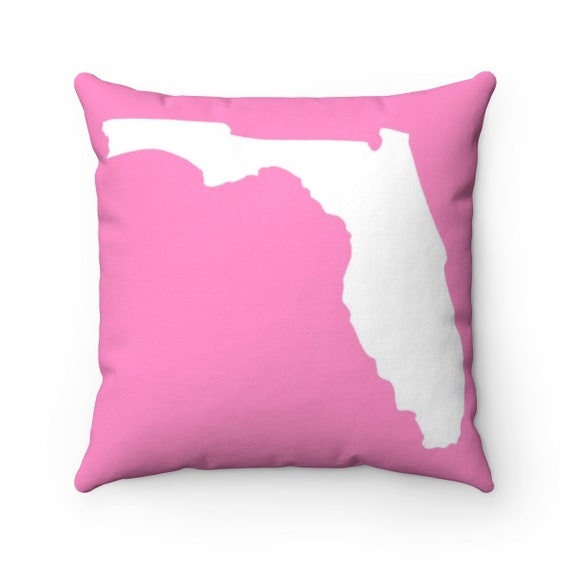 OUTDOOR Throw Pillow . Pink Florida Pillow . Pink Florida State Patio Cushion
