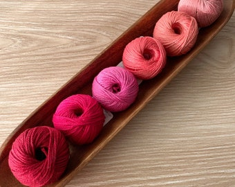 6 Cotton Yarn Set - Pinks - Yarn and Colors Must Have Minis Cotton Yarn - Stocking Stuffer