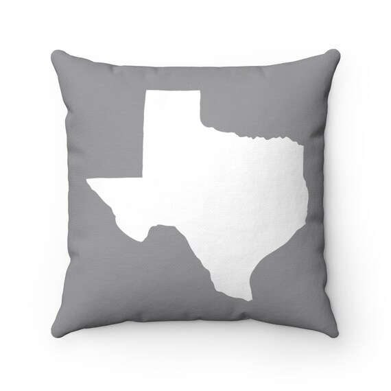 OUTDOOR Throw Pillow . Texas Outdoor Gray Pillow . Grey Texas State patio cushion . 16 18 20 inch . Gray Texas Outside Pillow . Texan Pride