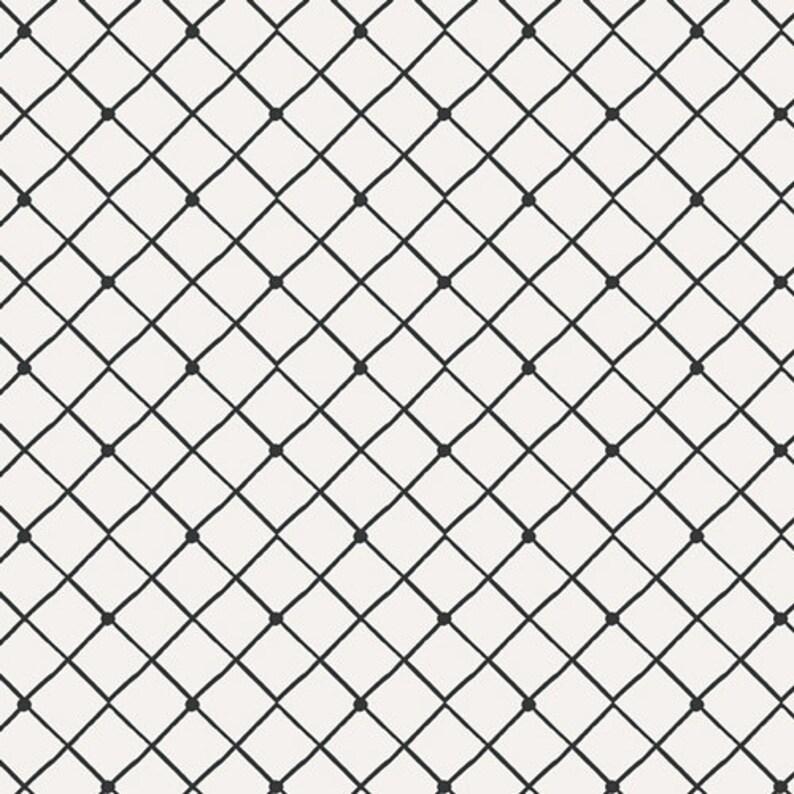 Harmony Fence  Black and White Fabric  Capsules Raise the image 1