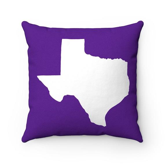 Purple Texas Throw Pillow . Violet Texas Pillow . Modern Purple Pillow . Texas Cushion . Texas State Pillow . Texas Gift 14 16 18 20 26 inch
