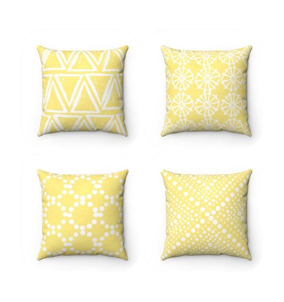 OUTDOOR Throw Pillow . Butter Yellow Outdoor Pillow . Yellow pillow . Yellow Patio Cushion . Throw Pillow 16 18 20 inch . Lumbar Pillow