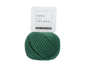 078 Bottle - Yarn and Colors Must Have Mini - Green Cotton Yarn - Fine (2)