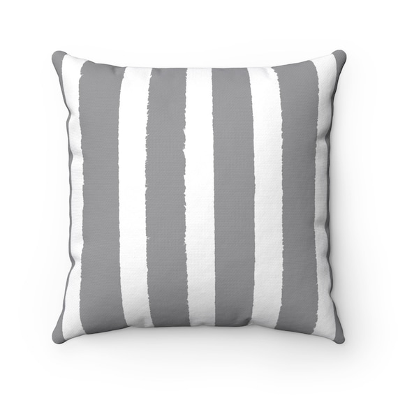 OUTDOOR Throw Pillow . Grey Outdoor Pillow . Gray Stripe patio cushion . Modern Outdoor Pillow . 16 18 20 inch . Slate Grey Lumbar Pillow