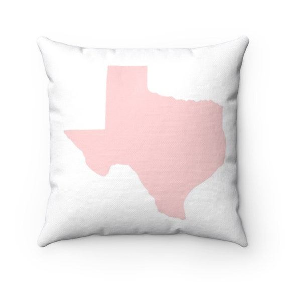 OUTDOOR Throw Pillow . Blush Pink Texas Outdoor Pillow . Pink Texas State Patio Cushion