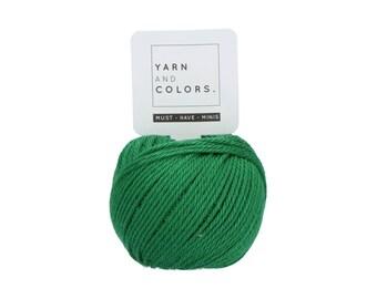 087 Amazon - Yarn and Colors Must Have Mini - Green Cotton Yarn - Fine (2)