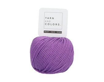 053 Violet - Yarn and Colors Must Have Mini - Purple Cotton Yarn - Fine (2)
