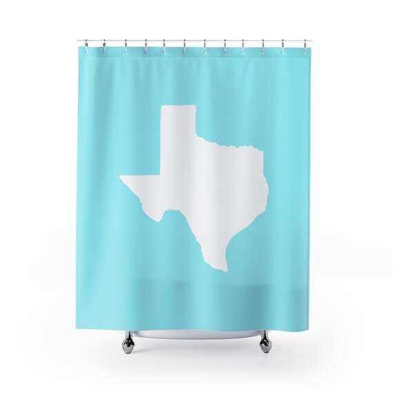Ice Blue Texas Shower Curtain . Aqua Texas State Shower Curtain