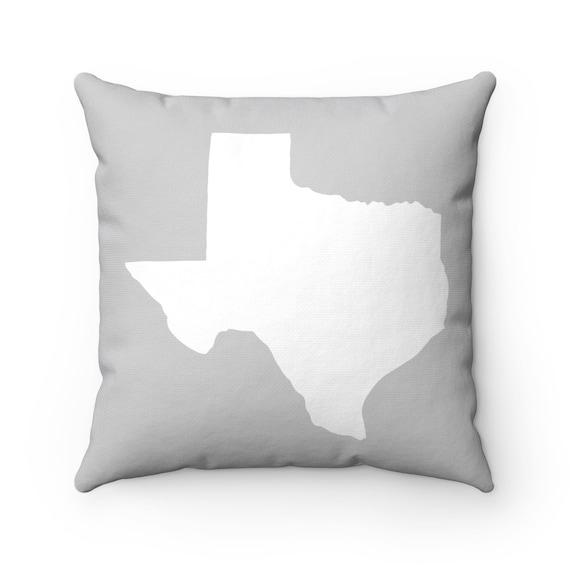 OUTDOOR Throw Pillow . Silver Gray Texas Outdoor Pillow . Texas State patio cushion . 16 18 20 inch . Texas Outside Pillow . Texan Pride