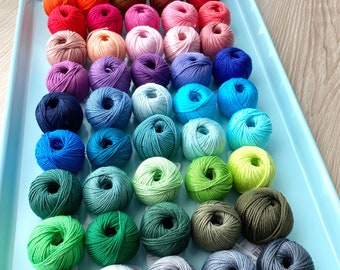 50 Cotton Yarn Set - Yarn and Colors Must Have Minis Cotton Yarn Set of 50 colors