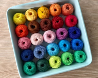 25 Cotton Yarn Set - Yarn and Colors Must Have Minis Cotton Yarn Set of 25 colors
